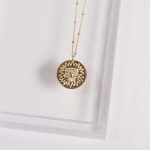 Lion Medallion Necklace