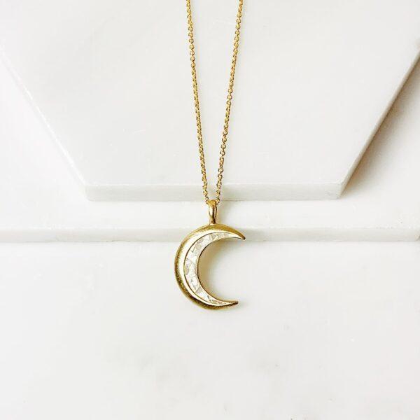 Luna White Deco Diamond Necklace