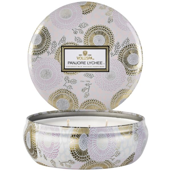 Voluspa Panjore Lychee 3 Wick Tin Candle