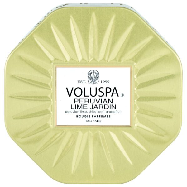 Voluspa Peruvian Lime Jardin Octagon Tin Candle