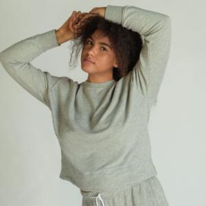 Heather Grey Pullover Sweatshirt