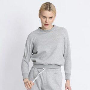 Heather Grey Shrunken Sweatshirt