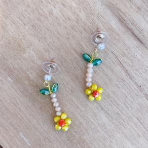 Yellow Poppy Earrings