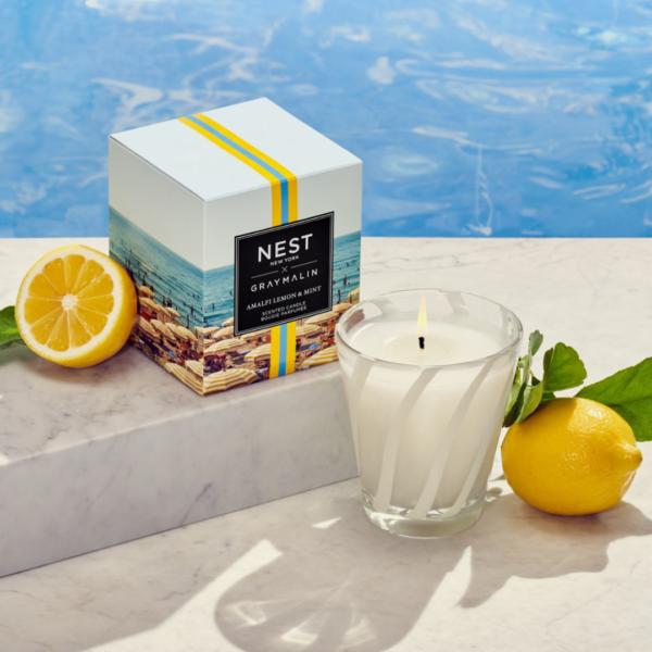 NEST New York x Gray Malin Amalfi Lemon & Mint Classic Candle Lifestyle