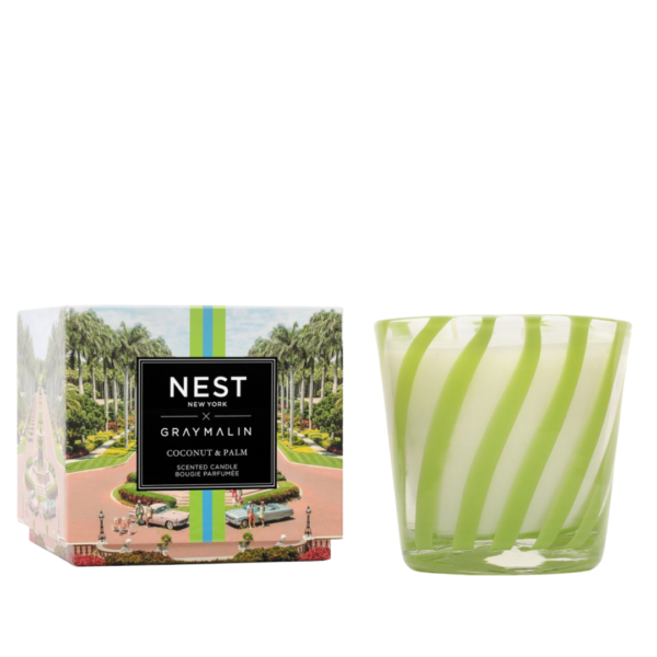 NEST New York x Gray Malin Coconut & Palm 3-Wick Candle