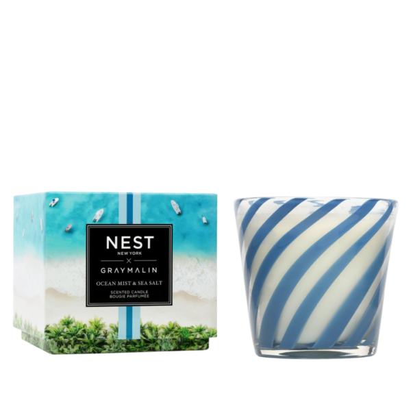 NEST New York x Gray Malin Ocean Mist & Sea Salt 3-Wick Candle