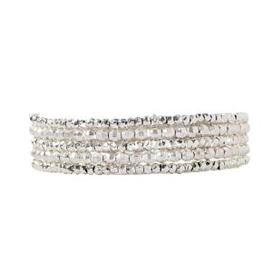 Chan Luu Silver Naked Wrap Bracelet