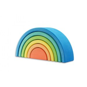 Small Blue 6 Piece Rainbow