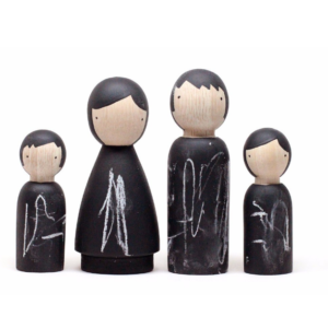 The Chalk People Wooden Doll Set