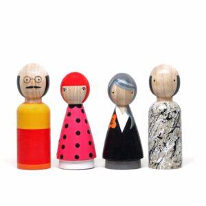 The Modern Artists II Wooden Doll Set