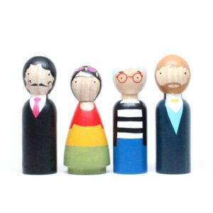 The Modern Artists Wooden Doll Set