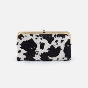 Cow Print Hobo Lauren Clutch Wallet