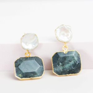 Pearl and Labradorite Earrings