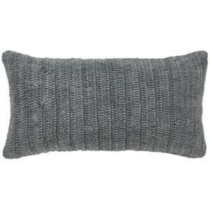 Stone Grey Linen Knit Pillow