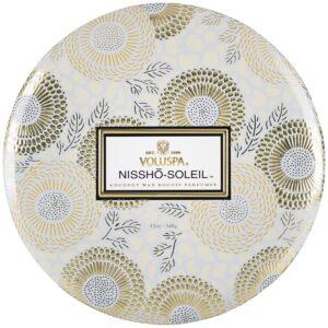 Voluspa Nissho-Soliel 3 Wick Tin Candle