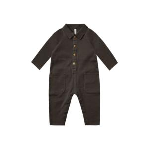 Rylee and Cru Vintage Black Snap Jumpsuit